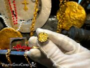 Ring Spain 1 Escudo Philip Iv Pirate Gold Coins Treasure Jewelry 18kt Gold Loot