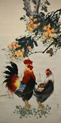 Fine Chinese Hand Painted Watercolor Wall Hanging Scroll Painting - Zhang Daqian