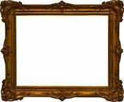 American 19th Century Louis Xv 8 Shell Victorian Gold Leaf Gesso Picture Frame