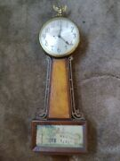 Vintage Sessions Model 2w Banjo Electric Wall Clock, 22 New Haven 1940s Perfect