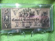 5 Canal And Banking Co. Of N. Orleans Obsolete Note Not Issued