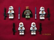Lego Star Wars Minifigures Lot,jedi Knight Kao Cen Darach And Sith Troopers