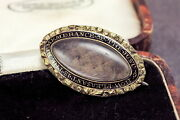 Unusual Antique Gold Filled Mourning Brooch How Pleasant Is The Remembrance 1860