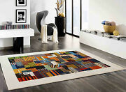 5'7x7'9 Nomad Ethan Gabbeh 100 Hand Knotted Woolen Area Rugs Carpets