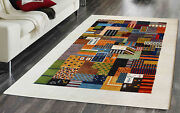 4'5x6'7 Nomad Ethan Gabbeh 100 Hand Knotted Woolen Area Rugs Carpets