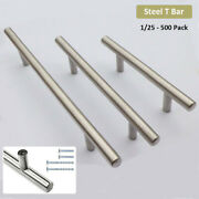 2-15 T Bar Stainless Steel Kitchen Cabinet Handle Pull Door Handle Drawer Knobs