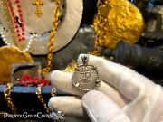 Triple Dated Peru 1 Real 1707 Pendant Necklace Pirate Gold Coins Jewelry Treas