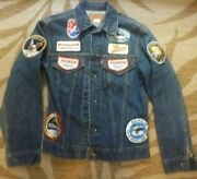 Vintage 70's Levi's Jacket With Apollo Mission, Honda 360 And Air Force Patches