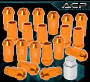 For Daihatsu 12x1.5 Time Attack Tuner Wheels Rim Lug Nuts 20pc Kit Gold +adapter