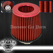 For Smart 4 Performance Cars Automotive Suv Truck Dry Air Filter Intake Red