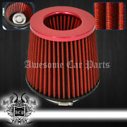 For Subaru 4 Performance Cars Automotive Suv Truck Dry Air Filter Intake Red