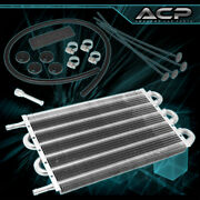 10x7.5x0.75 High Performance Universal Power Steering Tranny Oil Cooler Silver