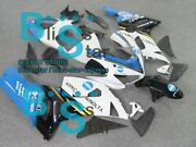 White Decals Injection Fairing Plastic Kit Fit Kawasaki Zx-6r 05-06 55 A4