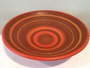 Alvino Bagni For Raymor Italy Large Pottery Centerpiece Bowl Marked W Label