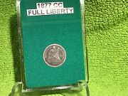 1877 Carson City Seated Dime Full Liberty In Bcw Slab Holder