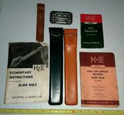 Vtg K And E Keuffel And Esser Lot Slide Rules Manuals Stencil Drafting Advertising