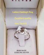 Irish Made Ladies Sterling Silver Claddagh Rings @ Wholesale Prices - See Mens
