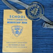 Southern California School Safety Patrol Aaa Type 1 Crossing Guard Arm Badge Pin