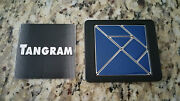 Tangram Silhouette Puzzle - Blue Heavy Metal - 2002 Binary Arts - Collector