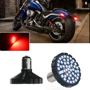 2pc 1156 48-smd Red Led Rear Turn Signal Panel Light For Harley Davidson Touring