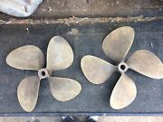 New/ Refurbished. Grand Rapids Brass 4 Blade Boat Props 18rh18 And 18lh18