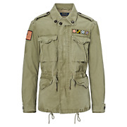 X-largepolo Flag American Military Field Army Canvas Jacket