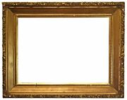 American 1870 Gilded Oak Canted Profile Picture Frame 31x43 Sku 1048