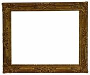 American 20th Century Louis Xv Carved Gilded Picture Frame 30x38