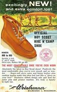 Cranford Nj Agent Adv Pc For Weinbrenner Boy Scout Hiking Shoes Dated 1963