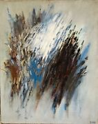 Roger Terry Barr Huile Toile Signandeacutee Art Abstrait Abstraction American Artist
