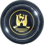 Vw Vintage Parts Horn Button Black With Gold Logobus - To And039 67bugs And03956 -and03959
