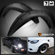 4pc Universal Flexible Front+rear Car Fender Flares Extra Wide Body Wheel Arches