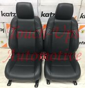 2020-2021 Toyota Tacoma Double Cab Black Leather Seat Covers Electric Driver