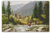 Crow Country - By Howard Terpning - Giclee On Canvas