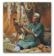 New Doll For My Granddaughter - By Howard Terpning - Giclee On Canvas
