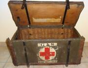 Antique British Wwi First Aid Kit Wooden Box Nurse Army Military Gas Treatment
