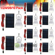 Lot 15w Rechargeable Solar Powered Led Light Bulb Lamp Office Camping Portable