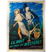 House On Haunted Hill Rare Linenbacked Movie Poster - 1959 - Vincent Price Will