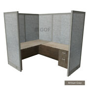 Gof 1 Person Workstation Cubicle5and039d X 6and039w X 4and039h /office Partition/artisan Grey