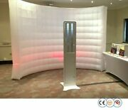 Inflatable Backdrop Led Wedding Photobooth Decorations With Inner Air Blower New