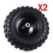 4.10-6 Front Tires Rim Wheels Assembly For Lawn Mower Snowblower Scooter Go Kart