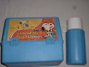 Lunchtime With Snoopy Lunch Box And Thermos 1965 United Feature Syndicate Vintage