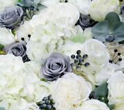Artificial Flower Wedding Wall Panel Decoration Fake Berry Orchids Floral Decors