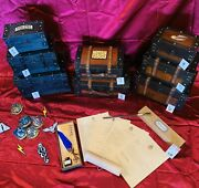 Wooden Hogwarts Trunk 25 Or 7 W/themed Contents Harry Potter Almost Sold Out