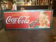 1950and039s 10and039 Coca-cola Coke Masonite Building Advertising Sign Watch Video