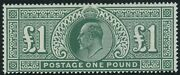 Sg 320 Andpound1 Deep Green. A Superb Post Office Fresh Unmounted Mint Example