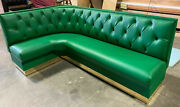 Corner Wall Bench L Shape Upholstered Diamond Tufted 48high Back Made In Usa