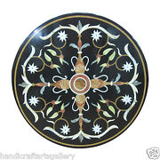 24 Marble Coffee Table Marquetry Inlay Pietra Dura Collectible Home Decor H2523