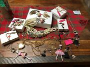 New Betsey Johnson Vintage Jewelry Lot Very Rare