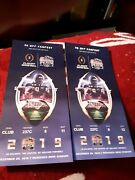 2 Peach Bowl Tickets - Sect. 237 Club Level With All Amenities Row 8